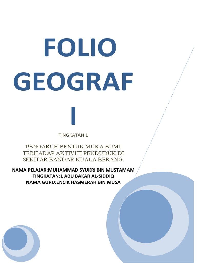 Folio Geografi Tingkatan 1 Sisa Domestik Rumusan