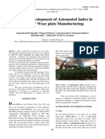 Design & Development of Automated Index in SPM for Wear Plate Manufacturing