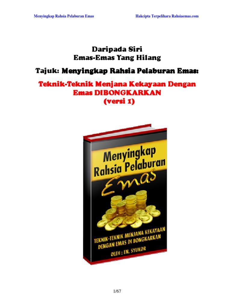 menyingkap rahsia pelaburan emas