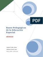 Bases Pedagógicas de La Educación Especial
