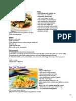 Buku Resep Mie, Puding, Sandwich, Thaifood