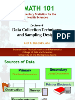 M101-Lec 4 Data Collection Techniques and Sampling Designs