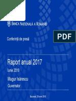 Lansarea Raportului anual 2017