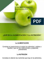 Alimentacion y Nutrientes en el párvulo