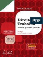 #Direito Do Trabalho - Teoria e Questões Práticas (2018) - Rogério Renzetti