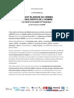 LA NUIT BLANCHE DU CINÉMA  ET DES DROITS DE L'HOMME - Le droit à la santé à l'honneur -  Les 29 et 30 juin à la BNRM
