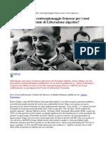Mattei Ucciso Dal Controspionaggio Francese Per i Suoi Rapporti Con Il Fronte Di Liberazione Algerino