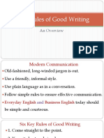 Key Rules of Good Writing