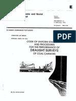 Draught Survey Code Uniform Standard