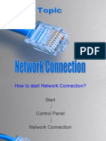Network Connections control panel option