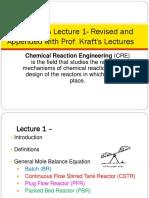 CRE1 Fogler 1 Mole Balances Reactors 2016