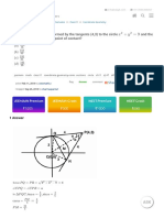 Find the area of triangle formed by the tangents (4,3) to the circle $x^2+y^2=9$ and the line segment joining their point of contact? - Clay6.com, a Free resource for your JEE, AIPMT and Board Exam preparation