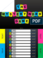 The Mystery Word Game