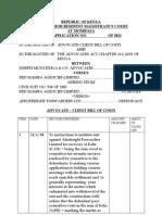Bill of Costs Red Mamba Agencies