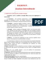 Riassunto Libro La Comunicazione Interculturale Balboni p