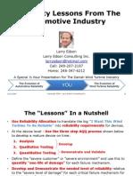 091006 Reliability Seminar Larry Edson Presentation