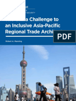 The China Challenge to an Inclusive Asia-Pacific Regional Trade Architecture