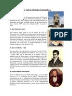 10 Próceres de La Independencia Guatemalteca