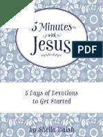 5 Minutes With Jesus Quiet Time Devotions