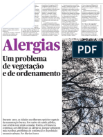 Alergias - Um problema de vegetação e de ordenamento