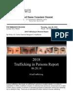 2018 06 28 - RAPPORT Mensenhandel 2018 TIP Report