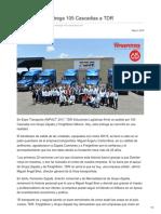 Grupo Zapata Entrega 105 Cascadias a TDR
