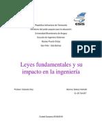 Leyes Funfamentales y Su Impacto Con La Ingeneria