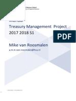 Treasury Management Project 20172018