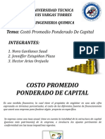 Costo Promedio Ponderado de Capital