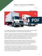 Transportes Del Bosque- En Ascenso Con Freightliner