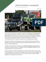 Producción y exportación de pesados, en recuperación