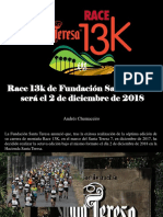 Andrés Chumaceiro - Race 13k de Fundación Santa Teresa será el 2 de diciembre de 2018