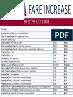PVTA Fare Increase July 2018