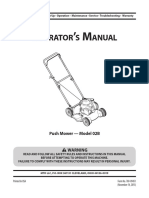 User manual for push mower model 02B