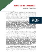TRAGTEMBERG, Mauricio. Socialismo Ou Estatismo