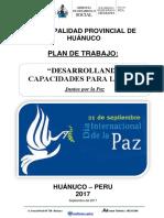 Plan de Trabajo Marcha Por La Paz