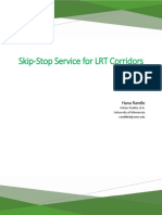 Skip-Stop Service for LRT Corridors - Final
