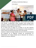 21-08-2017 Entrega Héctor Astudillo Apoyos Para La Educación en Costa Chica.