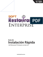 Guía de. Instalación Rápida Soft Restaurant Enterprise Versión 8.0. Nationalsoft.com.Mx
