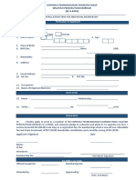 Application Form for Individual Membership Koperasai Ekonomi India
