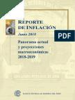 Reporte de Inflacion Junio 2018