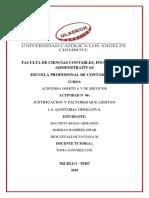 Justificacion y Factores Que Limitan La Auditoria Operativa