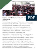 28-08-2017 Entrega Astudillo Becas y Paquetes Escolares en Chilpancingo.