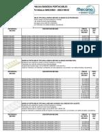 Lista de Precios Bandejas Tipo Malla Mecano 2015 Rev2 1