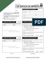 Formato Solicitud de Servicio de Imprenta
