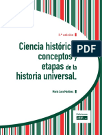 Ciencia Historica Conceptos Etapas Historia Universal