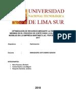 Proyecto Optimizacion Reduccion de Mermas en Cortes