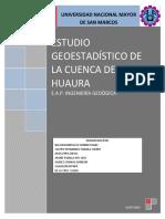 Geoestadistico de La Cuenca de Huaura