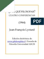 Mod3 ampliatorio1 Lyotard 1964 Porque filosofar conferencia Porque desear.pdf