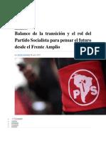 Ramírez, Simón - Balance de La Transición y Rol Del PS Para Pensar El Futuro Del FA